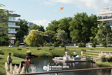 vista panoramica a la laguna