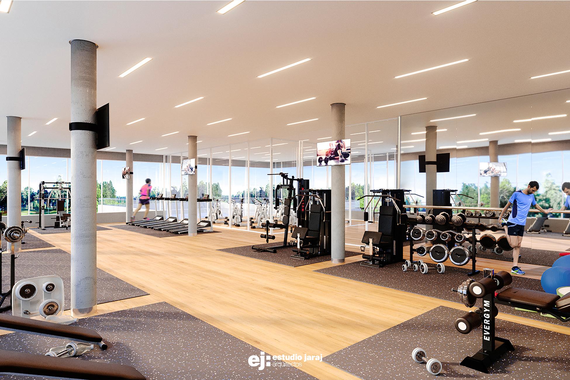 Vista del interior del gimnasio
