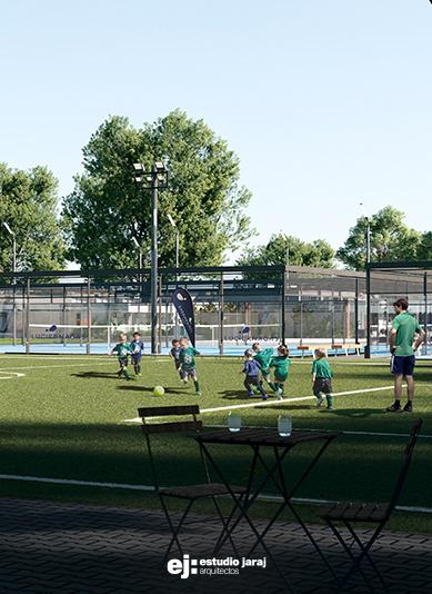 vista cancha de futbol